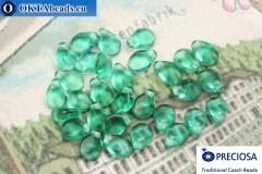 Preciosa PIP Beads emerald (50710) 5x7mm, 30pc
