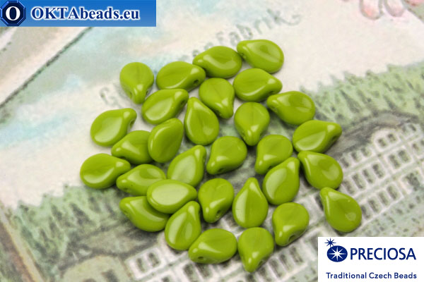 Preciosa PIP Beads chartreuse (53420) 5x7mm, 30pc