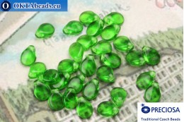 Preciosa PIP Beads green (50120) 5x7mm, 30pc MK0314
