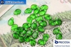 Preciosa PIP Beads green (50120) 5x7mm, 30pc MK0314