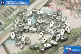 Бусины Пронг серебро матовые (K0170JT) 3х6мм5гр MK0280