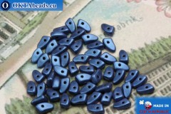 Prong Beads blue metallic matte (79031MJT) 3x6mm5g MK0294