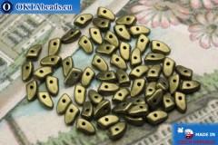 Бусины Пронг зеленые металлик матовые (79080MJT) 3х6мм5гр