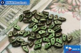 Prong Beads green metallic matte (94103JT) 3x6mm5g MK0291