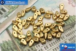 Prong Korálky zlato matný (K0171JT) 3x6mm5g MK0292