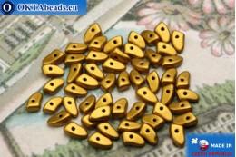 Prong Korálky zlato matný (K0173JT) 3x6mm5g MK0286