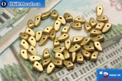 Prong Beads gold matte (K0171JT) 3x6mm5g MK0292