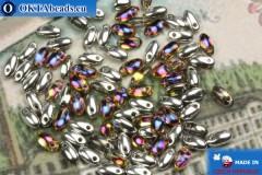 Rizo Korálky stříbro iris (29942CR) 2,5x6mm, 5g