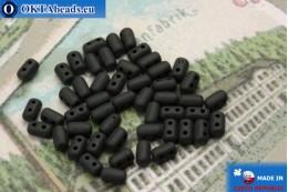 Бусины Рулла черные матовые (M23980) 3х5мм, 5гр MK0245
