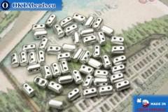 Бусины Рулла серебро матовые (K01700) 3х5мм, 5гр