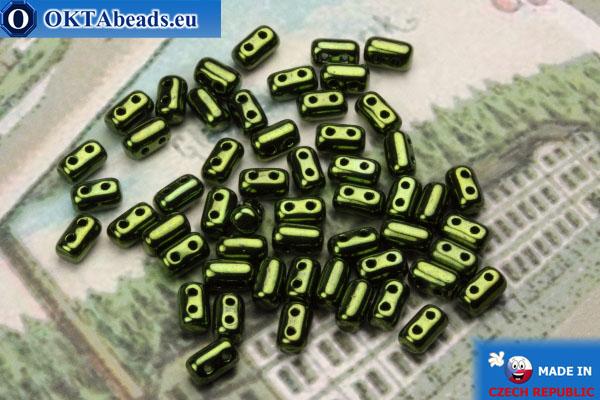 Rulla Korálky zelený metalíza (LK23980) 3x5mm, 5g MK0248