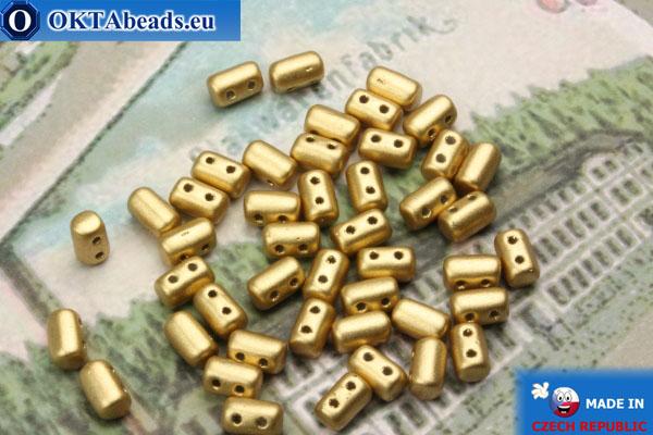 Бусины Рулла золото матовые (K0171) 3х5мм, 5гр MK0251