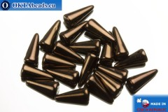 Spikes Beads bronze (LZ23980) 4x10mm, 20pc