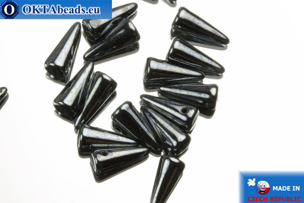 Spikes Korálky hematit (L23980) 4x10mm, 20ks