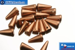 Spikes Beads copper matte (K0177JT) 4x10mm, 20pc