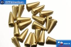 Бусины Шипы золото матовые (K0171JT) 4х10мм, 20шт MK0148