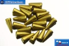 Бусины Шипы золото матовые (K0172JT) 4х10мм, 20шт MK0153