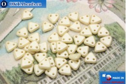 Triangle Beads beige luster (LC02010) 6mm5g