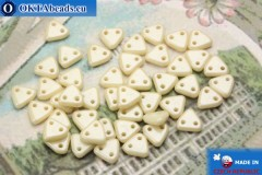 Triangle Beads beige luster (LC02010) 6mm5g MK0270