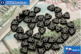 Бусины Треугольные черные (23980) 6мм, 5гр MK0255