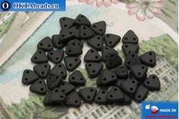 Бусины Треугольные черные (M23980) 6мм5гр MK0263