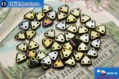 Бусины Треугольные коричневые ирис (21415JT) 6мм5гр