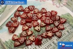 Triangle Korálky červený zlatý lesk (GM91260) 6mm5g