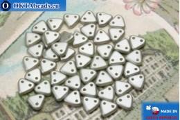 Бусины Треугольные серые жемчужные матовые (25028AL) 6мм5гр MK0274