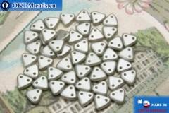 Triangle Beads grey pearl matte (25028AL) 6mm5g MK0274