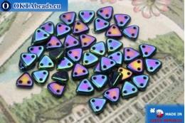 Бусины Треугольные синие ирис (21435JT) 6мм5гр MK0268