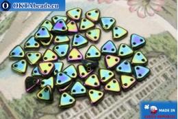 Triangle Beads green iris (21455JT) 6mm5g MK0259