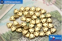 Triangle Beads gold matte (K0171) 6mm5g MK0272
