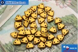 Бусины Треугольные золото матовые (K0173) 6мм5гр MK0258