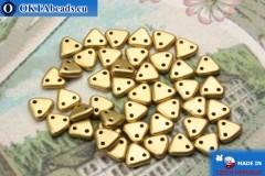 Triangle Korálky zlato matný (K0171) 6mm5g