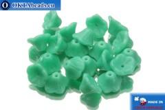 České korálky květina tyrkys (63140) 7x5mm, 20ks