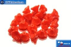 České korálky květina červený (93180) 7x5mm, 20ks