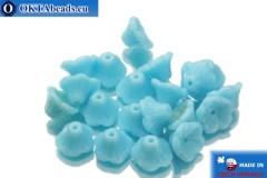 České korálky květina modrý (63020) 7x5mm, 20ks
