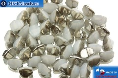 Czech buckwheat beads alabaster hematite (02020/27401) 5mm, 50pc