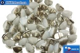 Korálky pohanka alabastr hematit (02020/27401) 5mm, 50ks PO006