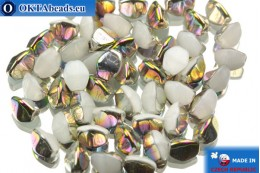Czech buckwheat beads alabaster iris (02020/28101) 5mm, 50pc PO010