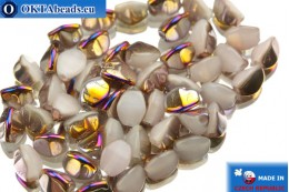 Czech buckwheat beads alabaster iris (02020/29500) 5mm, 50pc PO009
