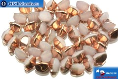 Czech buckwheat beads alabaster copper (02020/27101) 5mm, 50pc