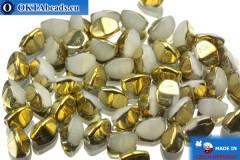 Korálky pohanka alabastr zlato (02020/26441) 5mm, 50ks PO008