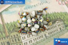 Czech buckwheat beads white vitrail (02010-28101) 5mm, 50pc