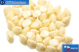 Czech buckwheat beads beige (02020/14413) 5mm, 50pc PO003
