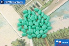 Czech buckwheat beads turquoise (63130) 5mm, 50pc