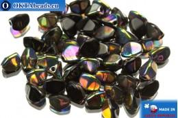 Чешские бусины гречка черные ирис (23980/28101) 5мм, 50шт PO022