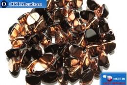 Чешские бусины гречка черные медь (23980/27101) 5мм, 50шт PO019