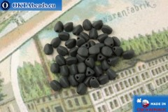 Czech buckwheat beads black matte (23980-84100) 5mm, 50pc
