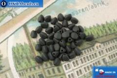 Czech buckwheat beads black matte (23980-84100) 5mm, 50pc, MK0537
